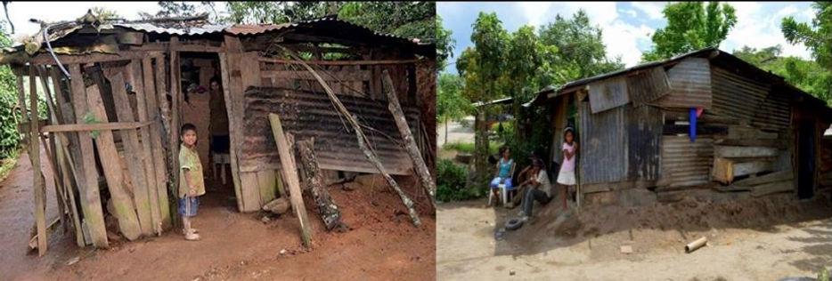 Boys rebuilding houses - original houses
