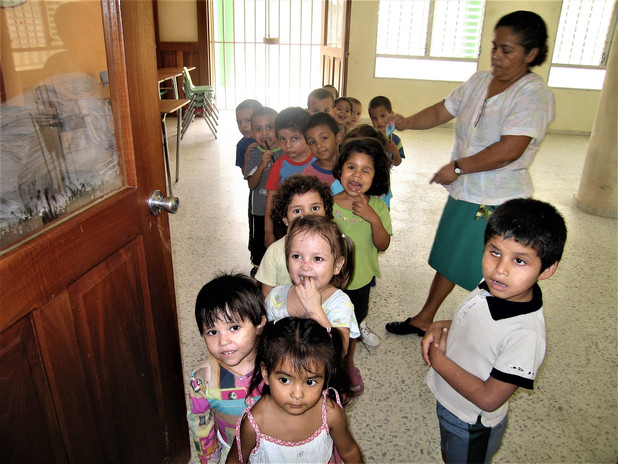 Visiting a public orphanage