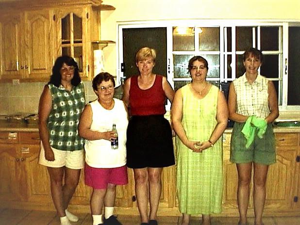 Linda Henson, Geri Sherwin, Kathi Rogers, Jean Costello and Phyllis Haas
