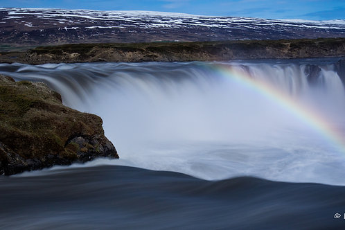 The end of the Rainbow -Goðafoss Falls #1 (Ice-14)