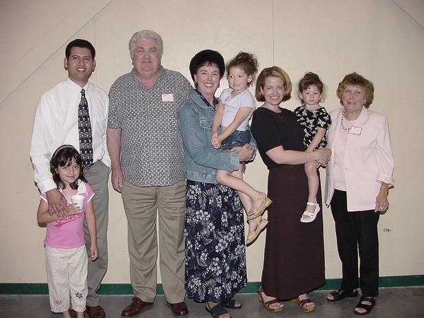 Carey Anaya, Oscar, Lyle and Mary Frenter, Sarah, Amy, Rachel, and Rachel King