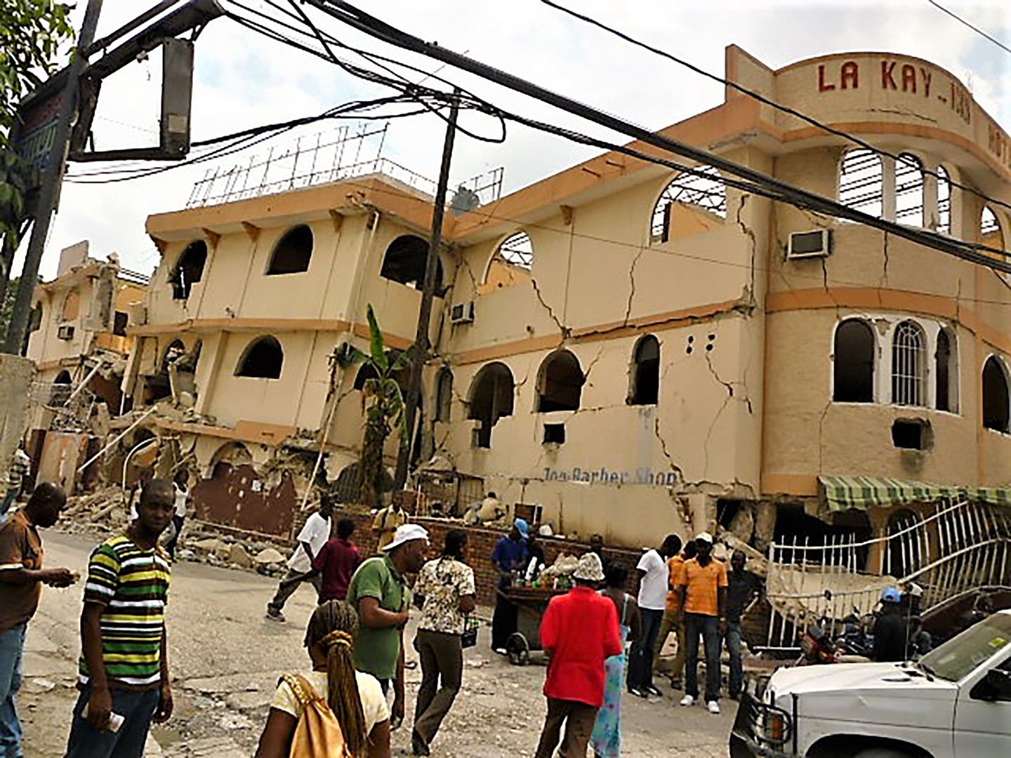 Destruction after the earthquake in Haiti - 2010