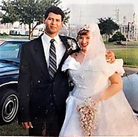 Amy and Oscar's wedding day, Texas City, Texas in Miembros Iglesia -1996
