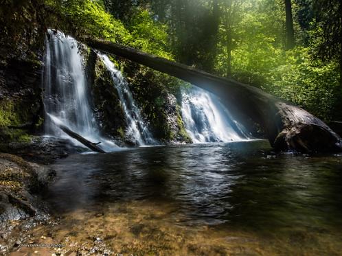 Dreamy waterfall - Cherry Creek Falls, Washinton