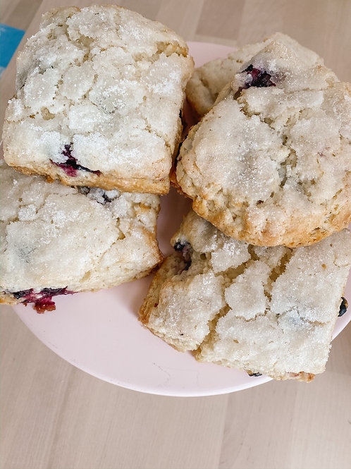 White Chocolate Raspberry Scones (Thursday & Saturday)