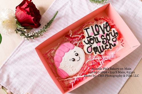 """Sushi """"I love you soy much"""" Cookie Box"""