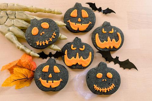 Jack-o-lantern Sugar Cookies