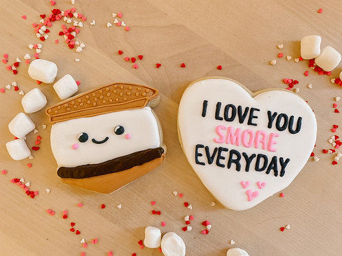 "S'more Theme: ""I Love You S'more Everyday"" Cookie Set Gift Box"