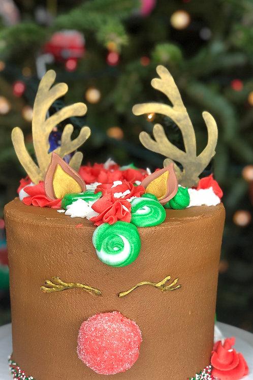 "8"" Reindeer Cake"