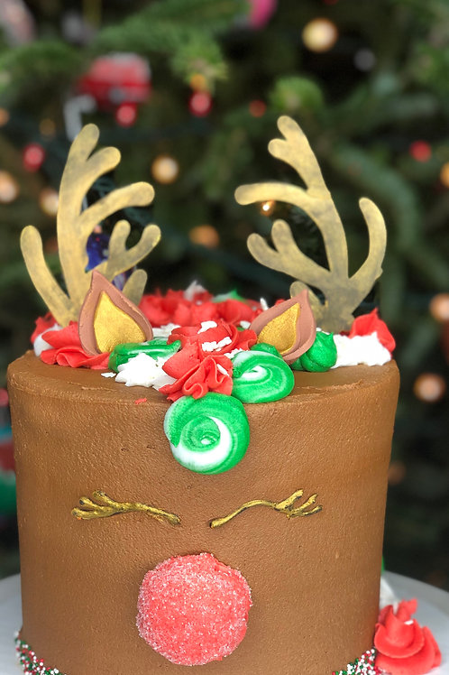 "6"" Reindeer Cake"