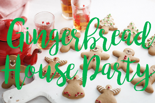 Gingerbread House Party: 10 people, no instructor