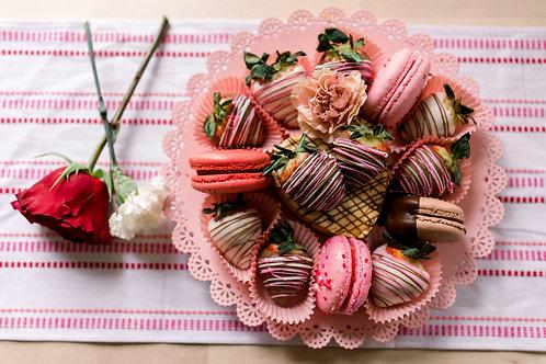 Cheesecake, Strawberry & Macaron Variety Box