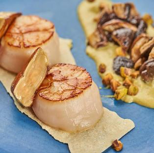 Foie gras sea scallops