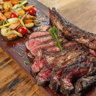 """wood oven baked australian wagyu beef, marble 5 """"tomahawk"""" giant steak"""