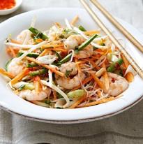 Thai chilli prawn, lemongrass, lime leaf & peanut noodle salad