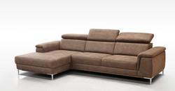 Bruine zetel met lonchair