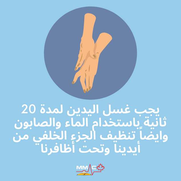 Blue Wash your hands COVID Arabic.png