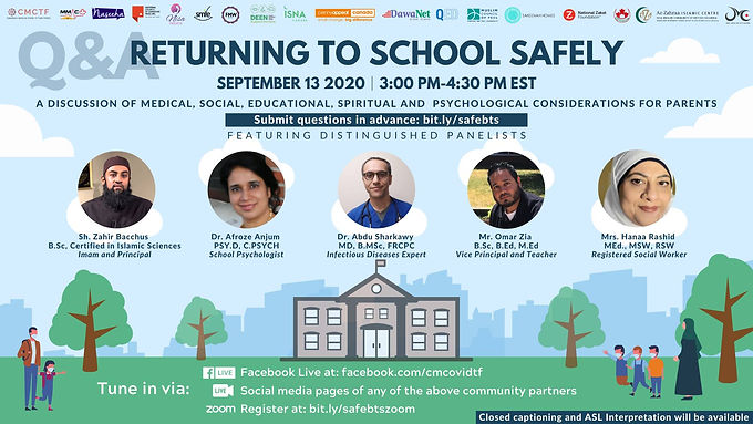 RETURNING TO SCHOOL SAFELY TOWN HALL