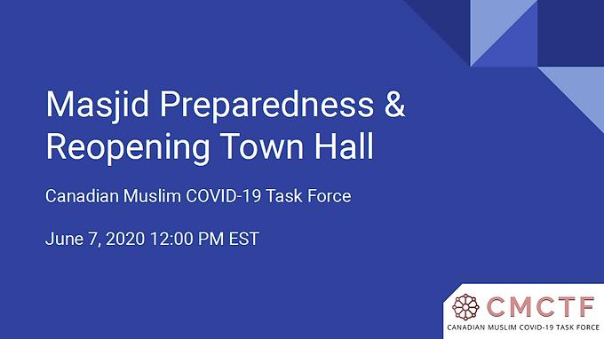 MAJID PREPAREDNESS & REOPENING TOWN HALL