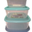 Thumbnail: Popular food container 3pcs Gree