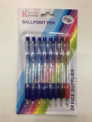Balpenset 8 stuks / set de 8 stylos à bille