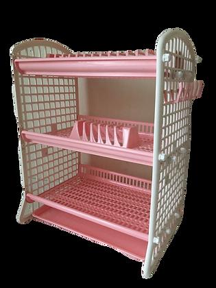 Kitchen rack / Dish rack white / pink
