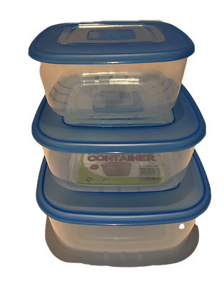 Popular food container set 3pcs Blue