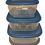 Thumbnail: Popular food container set 3pcs Blue