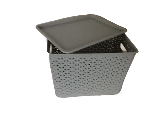 Rattan basket small with cover