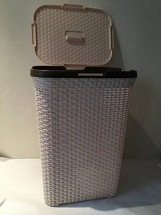 Rattan Laundry Basket Beige