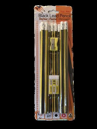 Promo 12 x potlood met gom en scherper