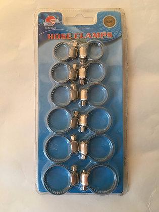 set 12 stuks klemmen / pinces set de 12pcs
