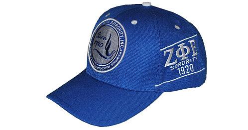 Zeta Phi Beta Blue Cap
