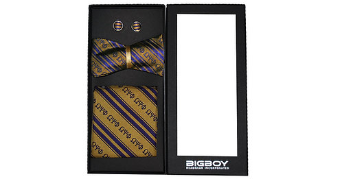 Omega Psi Phi Untied Bowtie set