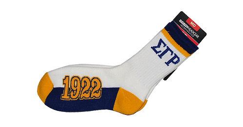 Sigma Gamma Rho White Socks