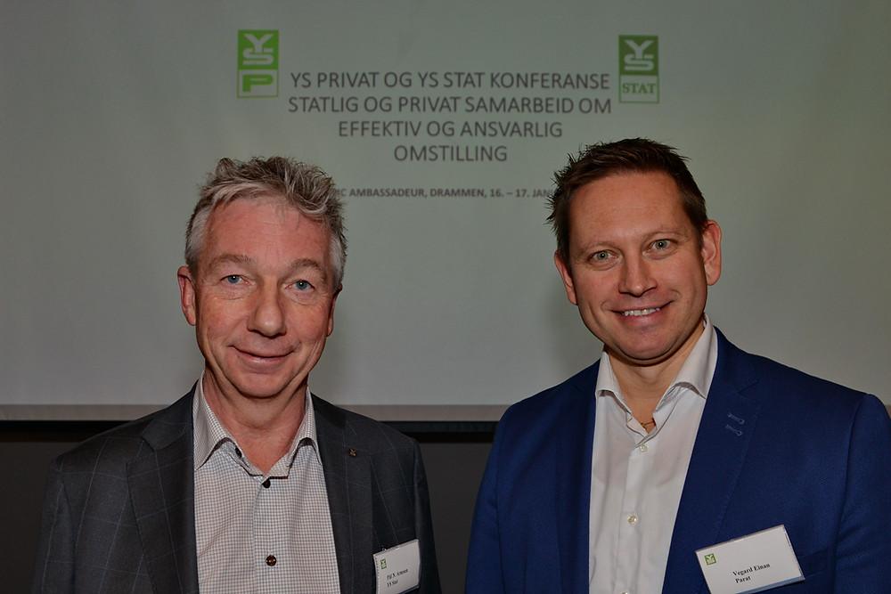 Pål N. Arnesen, YS Stat og Vegard Einan, YS Privat