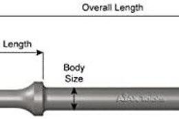 "Ajax Flat Chisel 7"" x 2"" in Blade Width; .401 Turn Type Shank; Wide Flat Chi"
