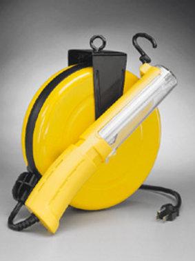 Alert Stamping 13 Watt Fluorescent Retractable metal Cord Reel Work Light