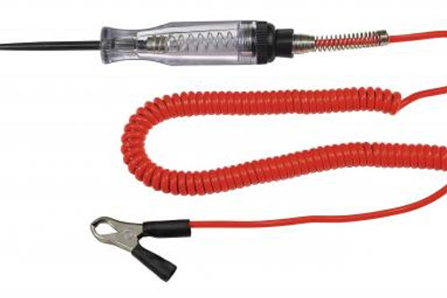 Heavy Duty Circuit Tester with 12' Retractable Wire & Battery Clip