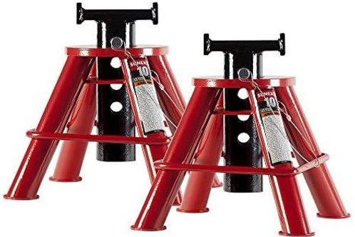 Sunex 1210 10-Ton Low Height Pin Type Jack Stands, Pair