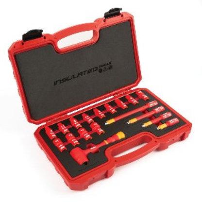 "Titan 66100 18-pc 1/4"" Drive VDE Insulated Socket Set 4mm - 14 mm"