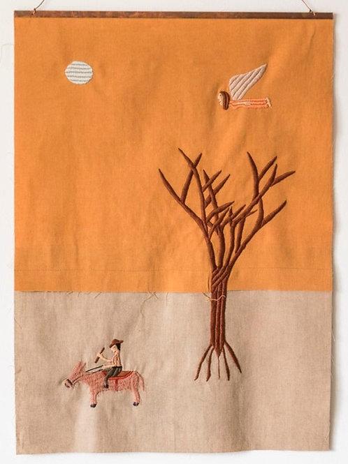 Burrinho, árvore e anja