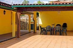 Table on pool terrace