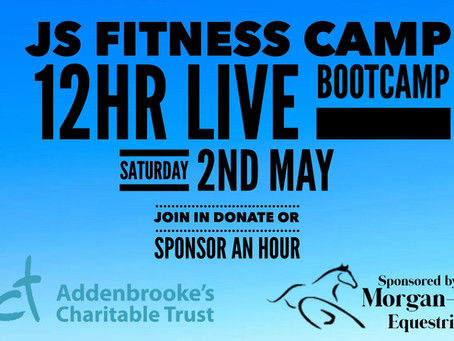 12 HOUR CHARITY BOOTCAMP SPONSORED BY MORGAN-EVANS EQUESTRIAN