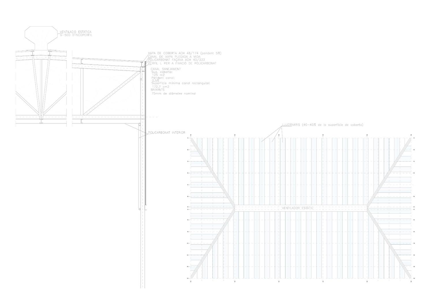 Pavelló detalls constructius