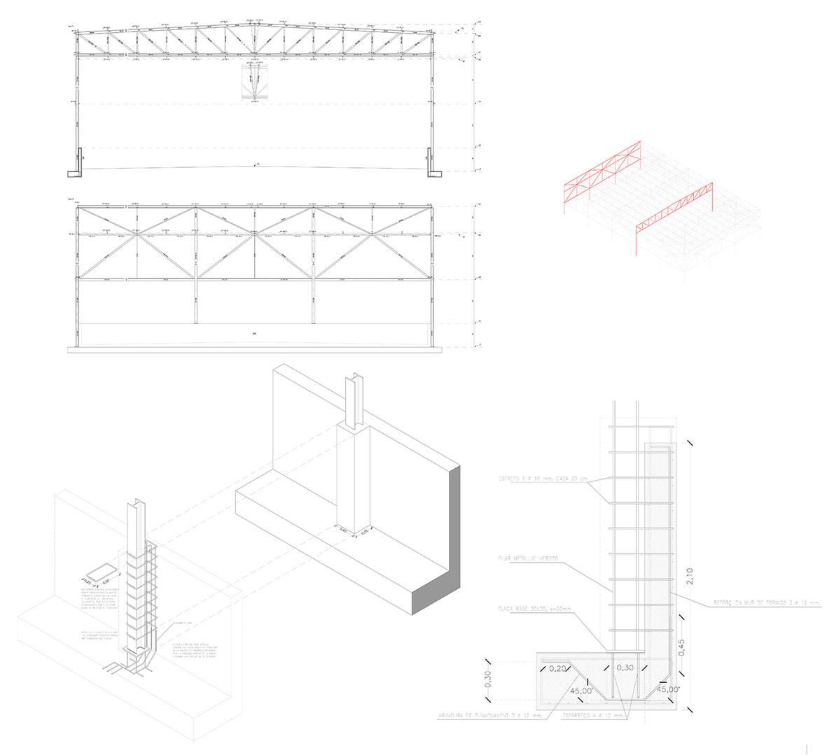 Pavelló estructura 1