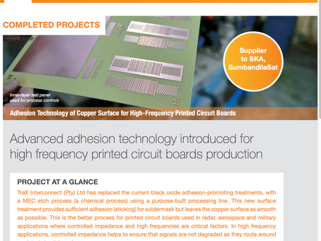 Advanced adhesion technology introduced for high frequency printed circuit boards production