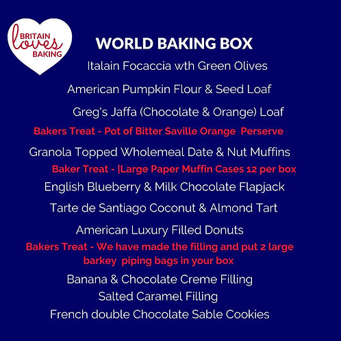 World Baking Box Pre-Order for June 2nd with a Free Apron
