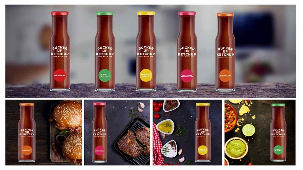a new range of on trend ketchups by the innovation team at Wixted Catering