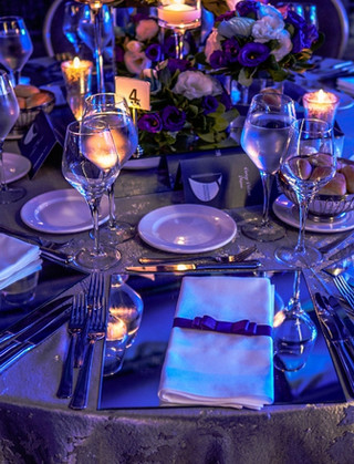 table layout for awards event
